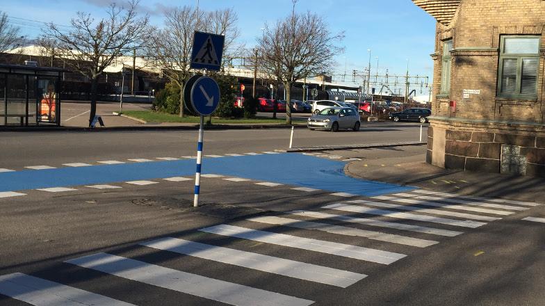 Cykelplan 2016: Färgmarkeringar i körbana