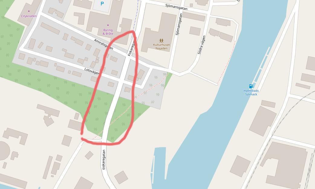 Färdigställande av cykelväg utmed Fiskaregatan i Halmstad